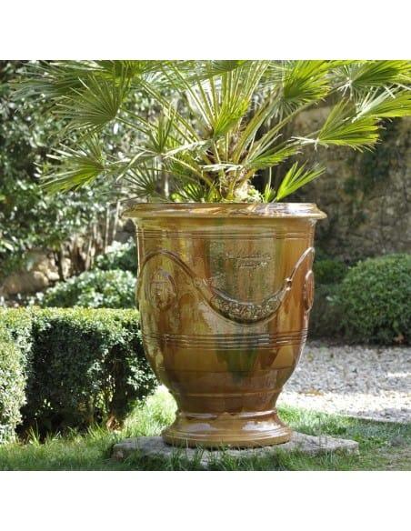 Vase d'Anduze émaillé tradition flammé