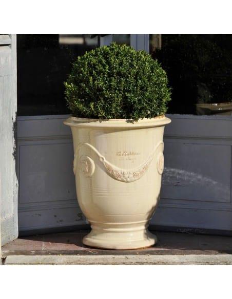Vase d'Anduze couleur ivoire