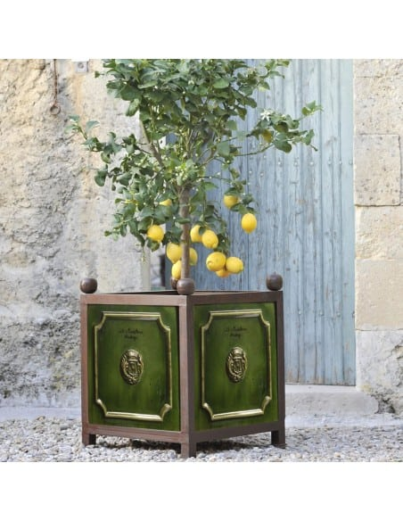 Bac à oranger émaillé tradition vert