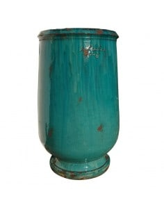 Jarre à huile patine turquoise