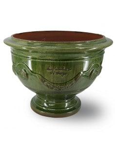 Coupe d'Anduze émaillé tradition vert