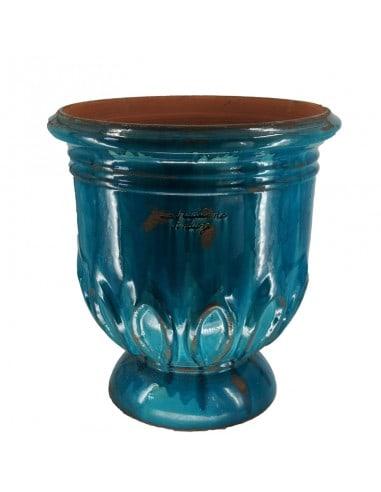 Vase tulipe patine turquoise