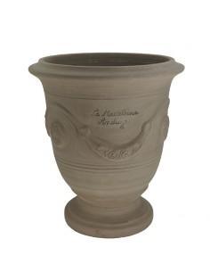 Vase d'Anduze terre grise naturelle