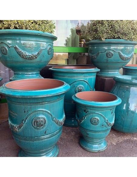 Anduze vase patinas blue turquoise