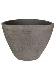 Vase Ellipse terre noire grattée
