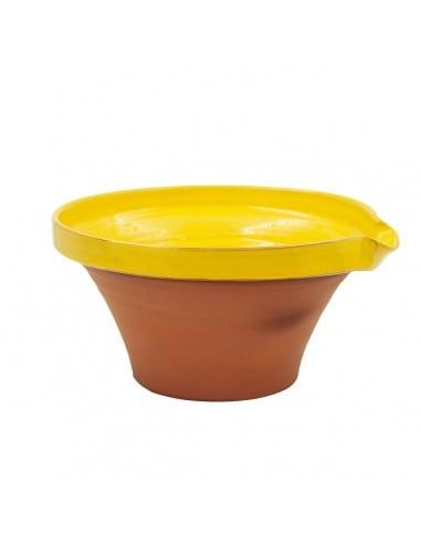Tian provençal artisanal jaune