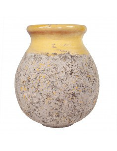 Biot patina Provence yellow collar 60cm height
