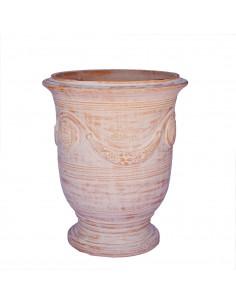 Anduze vase naturally ceruse