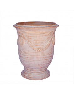 Vase d'Anduze cérusé naturel