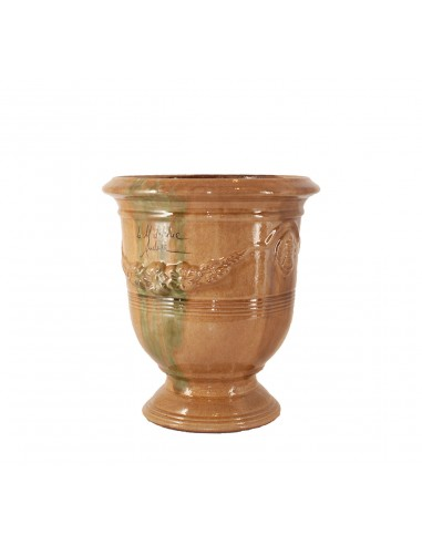Anduze vase traditionally glazed flame (middle sizes)