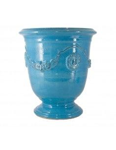 Vase d'Anduze émaillé couleur turquoise (Tailles moyenne)
