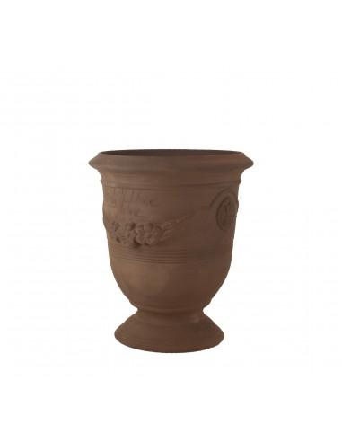 Vase d'Anduze terre couleur noire (Tailles moyenne)