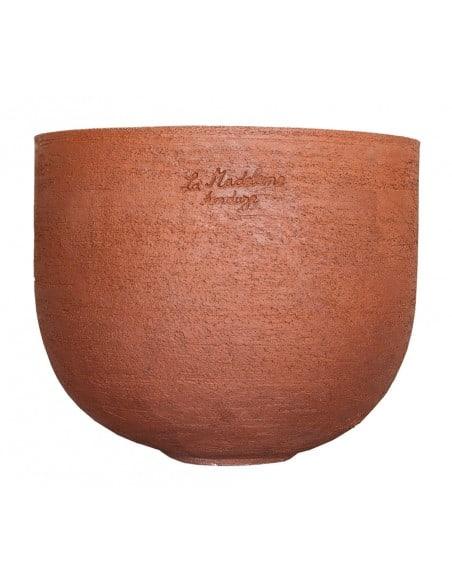 Vase Lisa in black natural clay