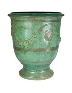 Anduze pot emerald patina