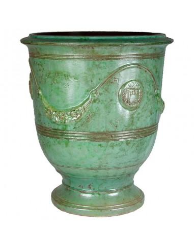 Vase d'Anduze patine émeraude