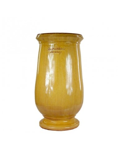 Traditional yellow glazed oil jar