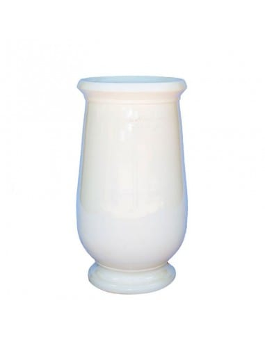 Pure white color glazed oil jar