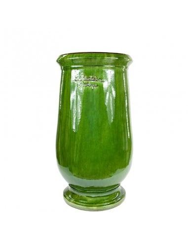 Jarre à huile émaillé tradition vert petit modèle