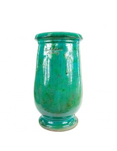 Emerald patina oil jar