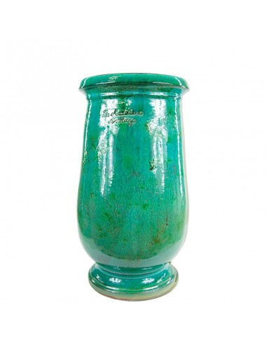 Emerald patina oil jar