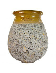 Drop shape Biot jar yellow...
