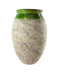 Olive shape Biot jar green...