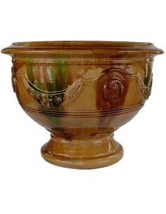 Anduze cup traditional glazed flame