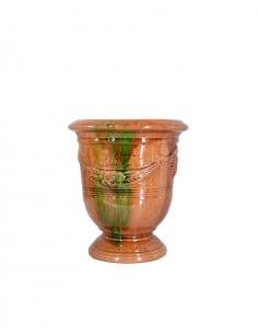 Anduze mini vase flamed enamelled tradition n°6 D21cm - H24cm
