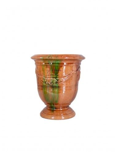 Vase d'anduze émaillé tradition flammé n°6 D21cm - H24cm