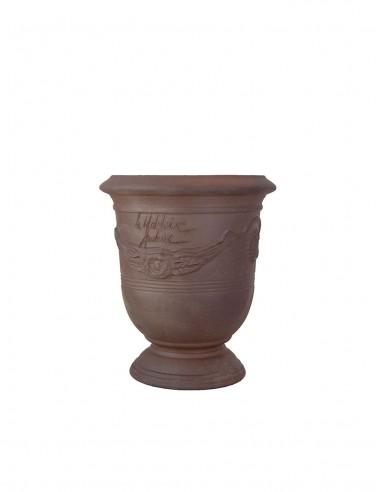 Vase d'anduze terre noire naturelle n°6 D21cm - H24cm