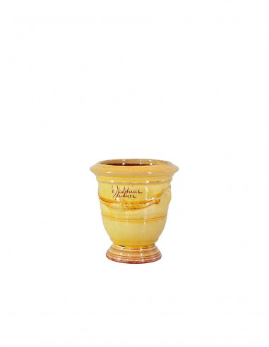 Anduze mini vase yellow enamelled tradition n°7 D13cm - H14cm