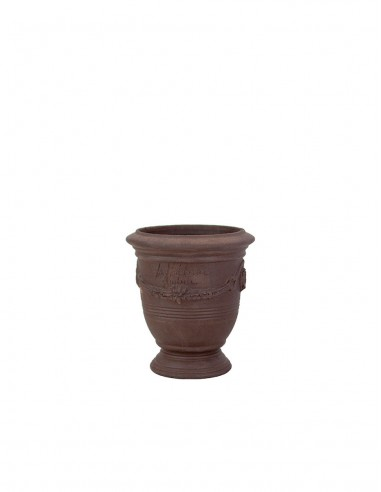 Anduze mini vase black natural clay n°7 D13cm - H14cm