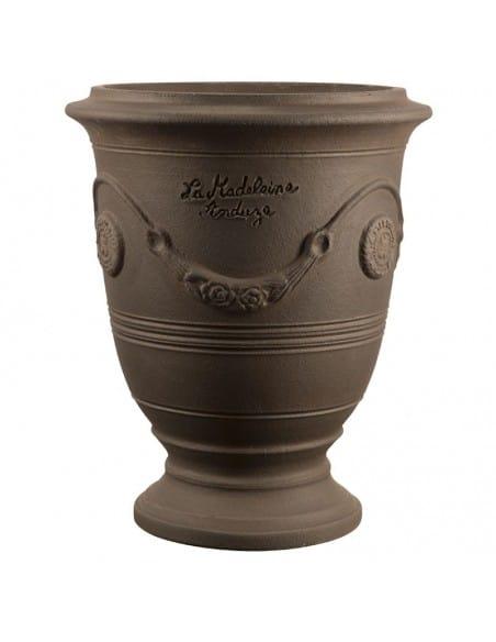 Vase d'Anduze couleur terre noire naturelle