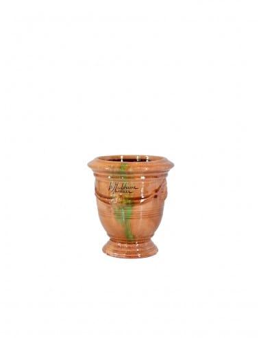 Mini vase d'Anduze émaillé tradition flammé n°7 D13cm - H14cm