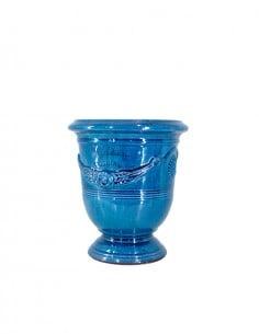 Anduze mini vase lavender blue glazed tradition n°6 D21cm - H24cm