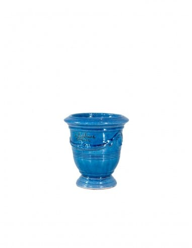 Anduze mini vase lavender blue glazed...