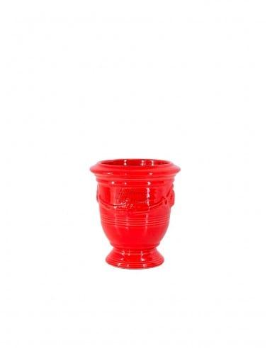 Anduze mini vase tomato red glazed n°7