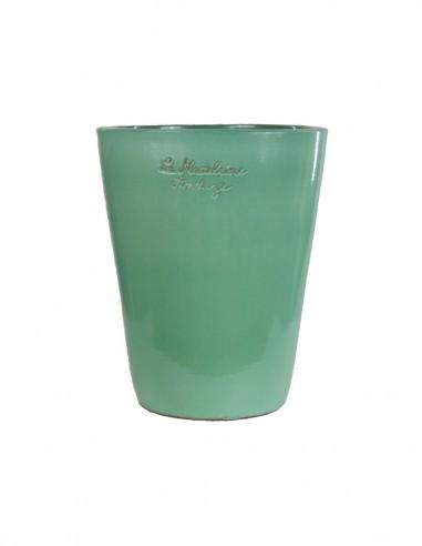 Mazagran émaillé couleur vert céladon