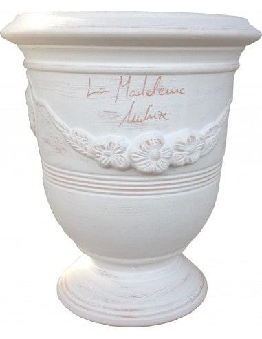 White ceruse Anduze vase (middle sizes)