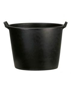 Pot rond en plastique noir...