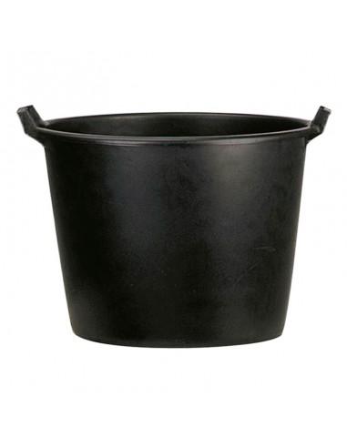 Pot rond en plastique noir pour...