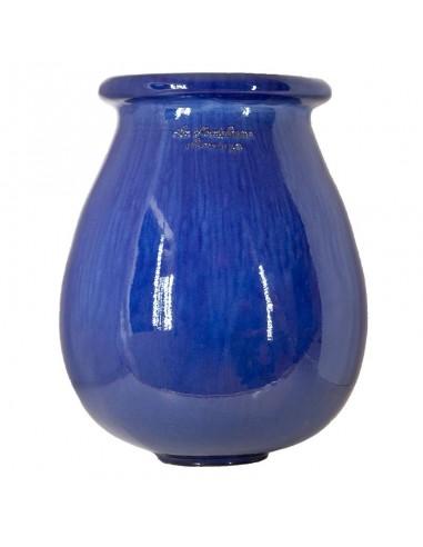 Drop shape traditional blue glazed...