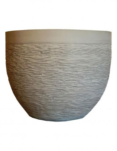 Coupe Lisa en terre grise sculptée