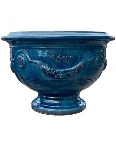 Coupe d'Anduze émaillé tradition bleu lavande