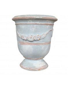 Grey patina Anduze vase...
