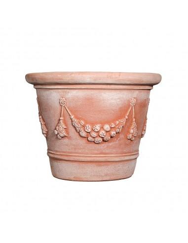 Très grand vase Italien festonné guirlande D102/H76