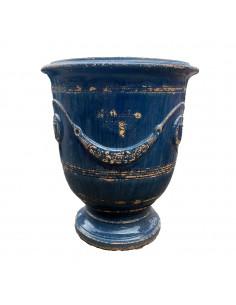 Antique blue finish Anduze pot